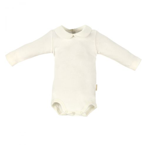 Body Beige Manga Larga Cuello Peter Pan - Cambrass