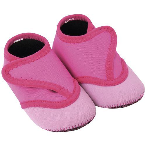 Botines de natación para bebés de neopreno en color rosa