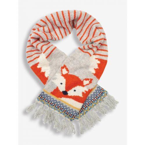 Bufanda Polar para niños Zorro Gris - de lana