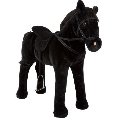 Caballo negro de juguete con Sonido - a partir de 3 años - 71 cm altura