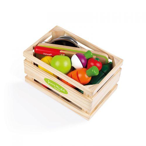 Caja de frutas y verduras de madera , Janod