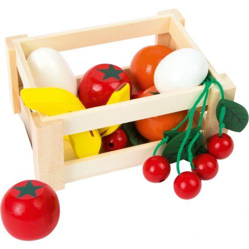 Caja de frutas y verduras Mercado semanal , Juguete de madera