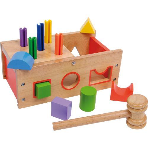 Caja de madera para ensartar y golpear Figuras