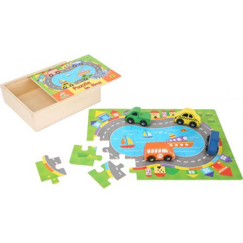 Caja de puzzle de madera Tráfico