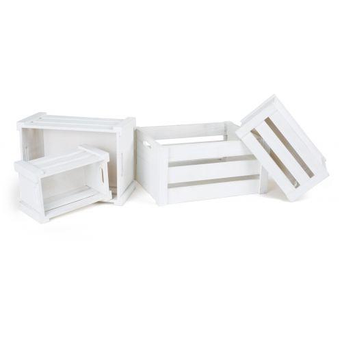 Cajas de madera Blancas - Set 4 unidades