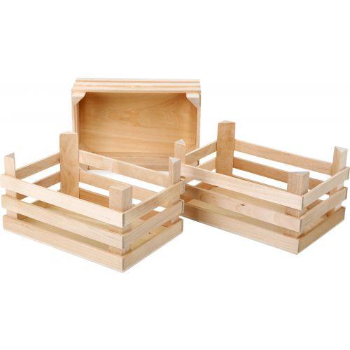 Cajas de madera Juguete - 3 unidades - 18 x 12 x 9.5 cm