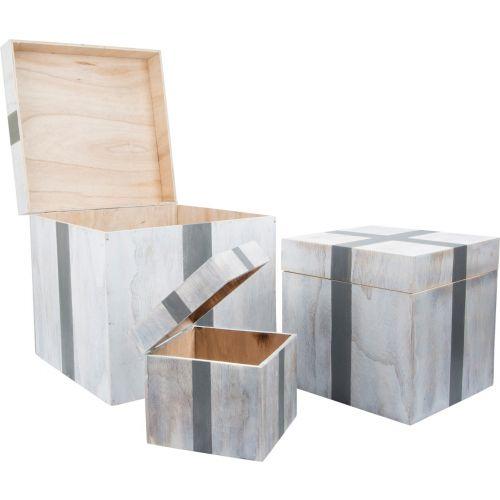 Cajas de madera Regalo, 3 Unidades