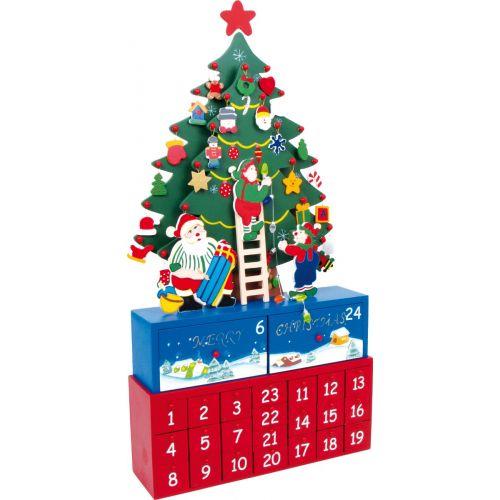 Calendario de Adviento de madera Árbol de Navidad