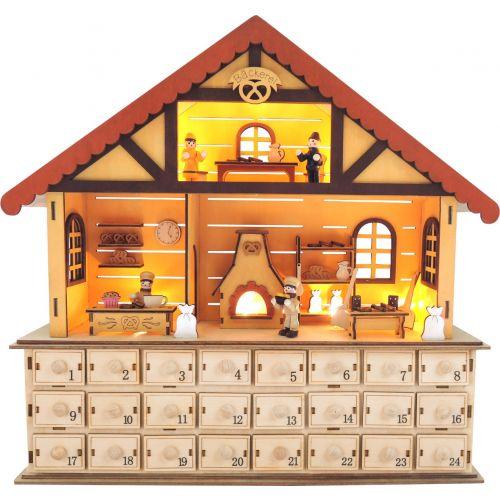 Calendario de adviento de madera La repostería de Navidad