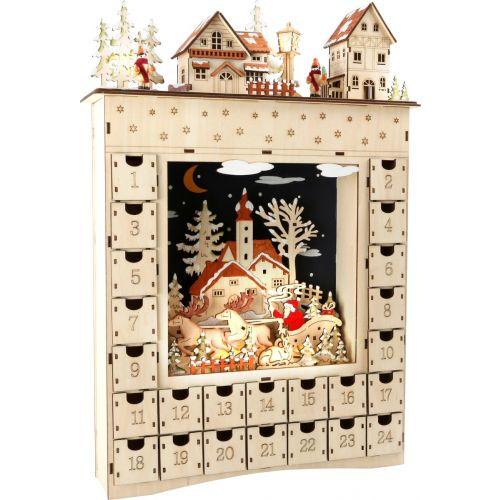 Calendario de Adviento de madera, Sueño de Invierno