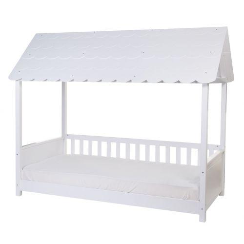 Cama infantil con Techo 90 x 200 cm , madera Blanca - Childhome