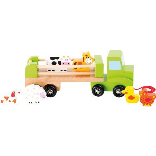 Camión de madera para el transporte de Animales - Legler