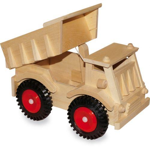 Camión de madera con ruedas de plástico