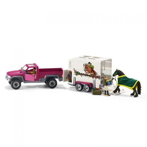 Camioneta con remolque para caballos , Schleich