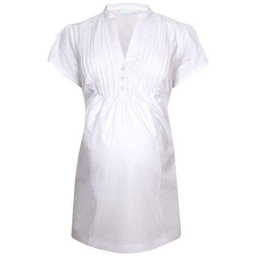Camisa Premamá Blanca de manga corta
