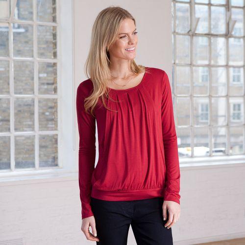 Camiseta de Embarazo y Lactancia roja