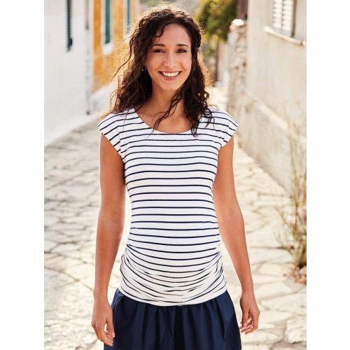 Camiseta Premamá Fruncida con Rayas Breton