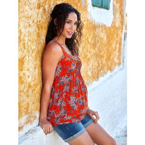 Camiseta Premamá Red Floral