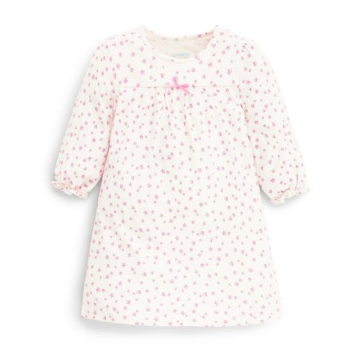 Camisón para Niña Blanco Estrellas Rosas