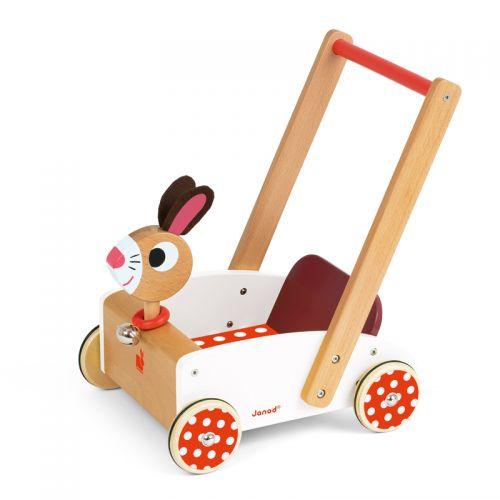 Carrito Andador de Madera Crazy conejo - Janod