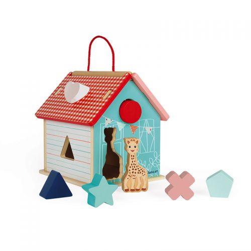 Casa de madera con Formas Sophie la Girafe Janod , 7 pìezas