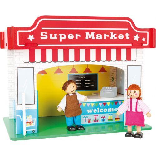 Casa de juegos Supermercado con accesorios