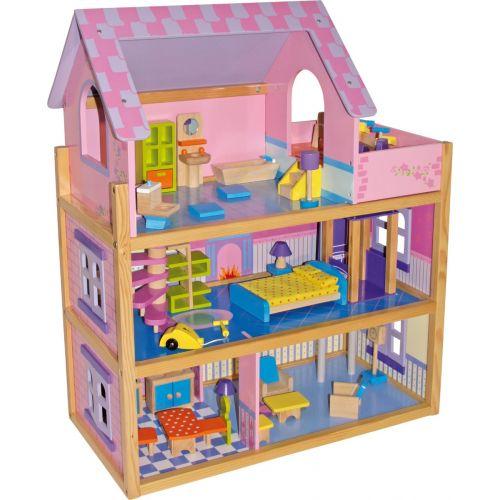 Casa de Muñecas Rosa - Legler - 73 cm de altura