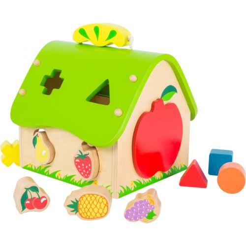 Casa de madera Frutas - Juguete de encajar piezas