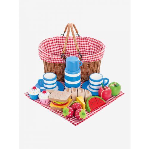Cesta de Picnic con comida , Juguete de madera - 20 piezas