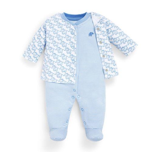 Chaqueta y Pijama para Bebé Estampado Elefantes