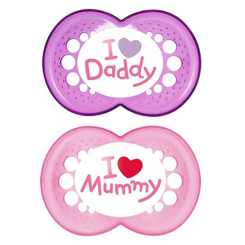Chupete Mam Love 6+ meses rosa
