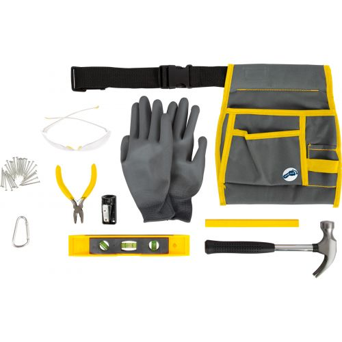 Cinturón de herramientas Profi con bolsa y herramientas - 10 piezas