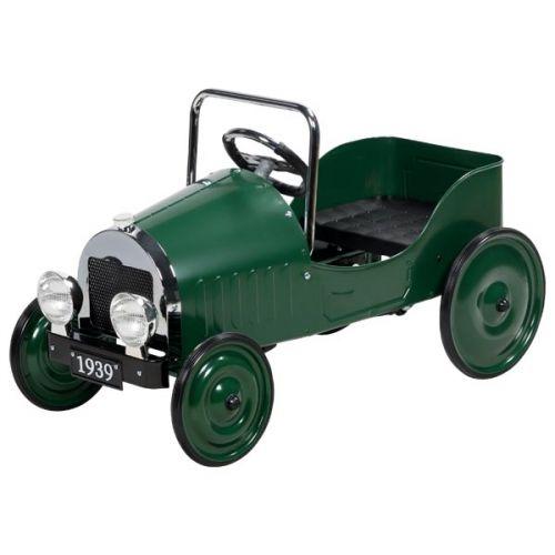 Coche clásico verde de pedales, Goki