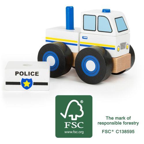 Coche de policía - Juguete de madera