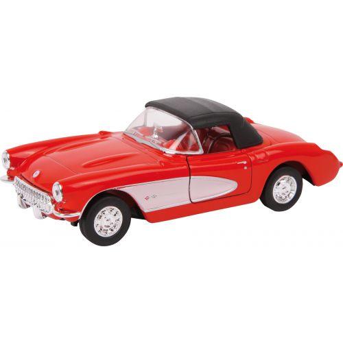 Coche Modelo Chevrolet 57 Corvette Rojo , Escala 1:34