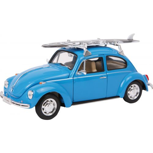 Coche Modelo VW Beetle con tabla de surf , Escala 1:24