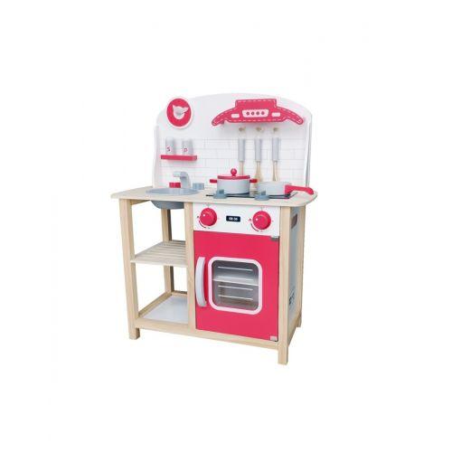 Cocina de madera Roja Andreu Toys , ideal para jugar 2 a la vez