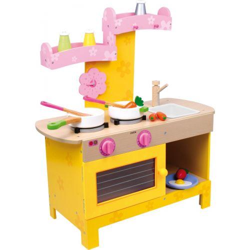 Cocinita de madera Nena Amarilla y Rosa