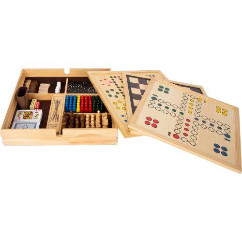 Colección de 20 juegos clásicos en caja de madera