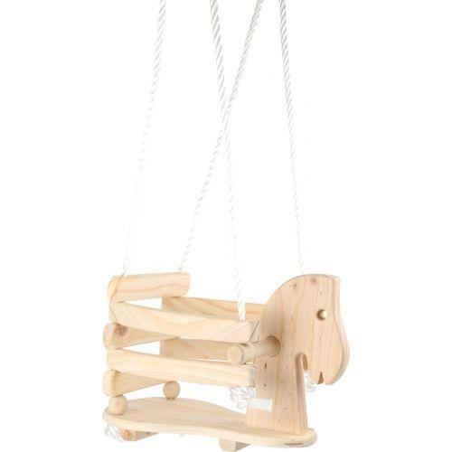 Columpio de madera para niños Pony