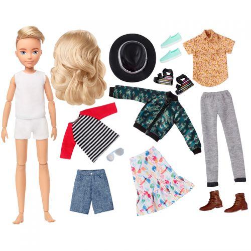 Creatable World Figura Unisex, muñeco, pelucas rubio platino y accesorios