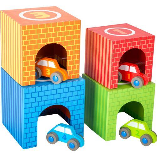 Cubos Apilables Coches de carrera , Hechos de madera