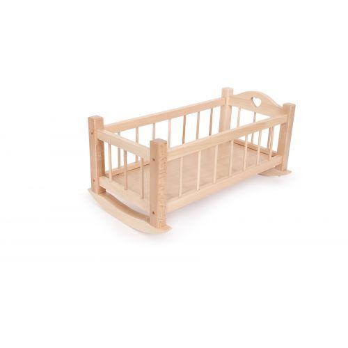 Cuna balancín de madera para muñecas