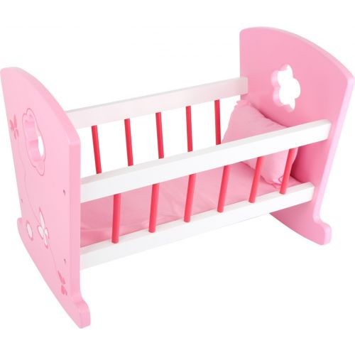 Cuna rosa de madera para Muñecas - Legler