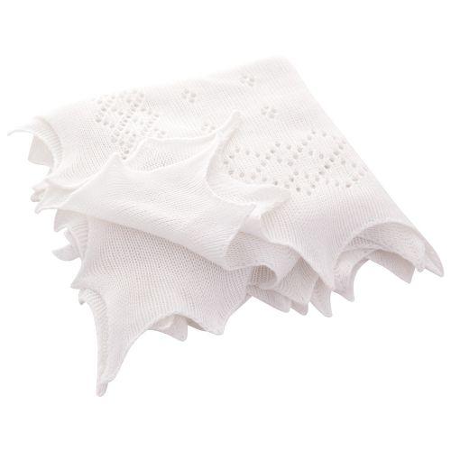 Toquilla de Bautizo en Color Blanco