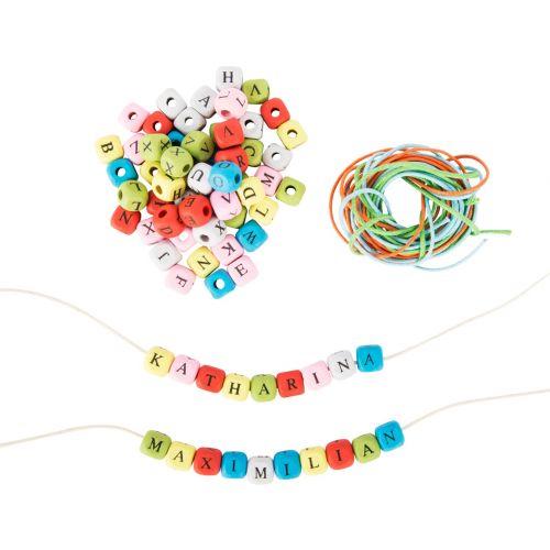 Dados con letras de Colores para hacer collares y pulseras - 300 unidades