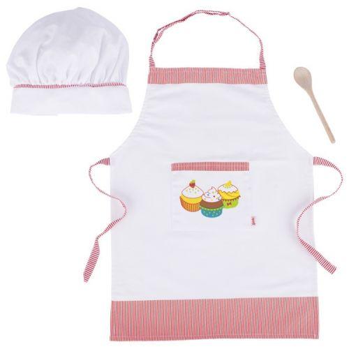 Delantal y gorro de cocinero para niños , Goki
