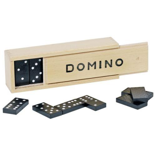 Dominó 28 piezas en caja de madera
