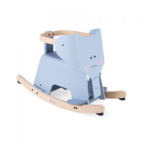 elefante balancín de madera janod