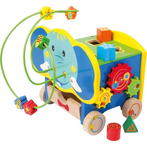 Elefante de Madera con Actividades